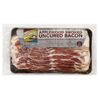 Zoes Bacon, Uncured, Applewood Smoked