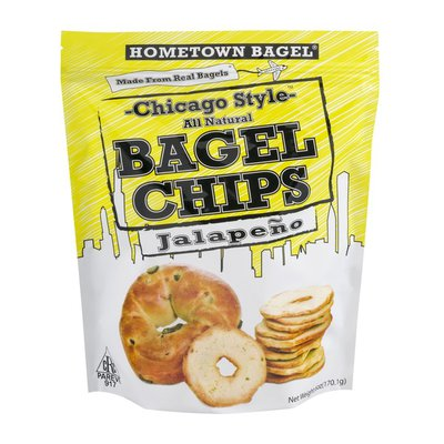 Hometown Bagel Chicago Style Bagel Chips Jalapeno