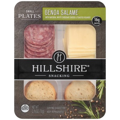 Hillshire Snacking Small Plates, Genoa Salami and White Cheddar Cheese, Single Serve