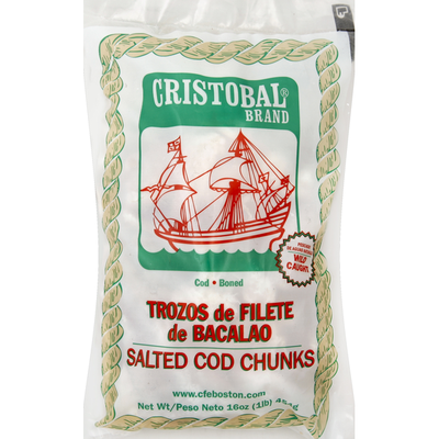 Cristobal Cod, Salted, Chunks
