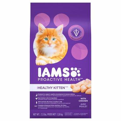 IAMS Kitten Nutrition, Premium, with Chicken, Healthy Kitten, Kitten 1-12 months