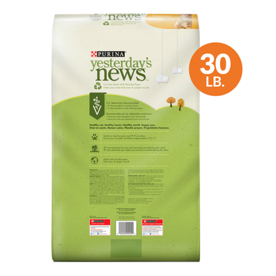 Purina Yesterday's News Non Clumping Paper Cat Litter, Unscented Low Tracking Cat Litter