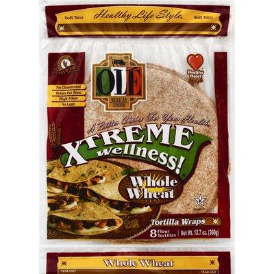 Ole Tortilla Wraps, Flour, Soft Taco, Whole Wheat