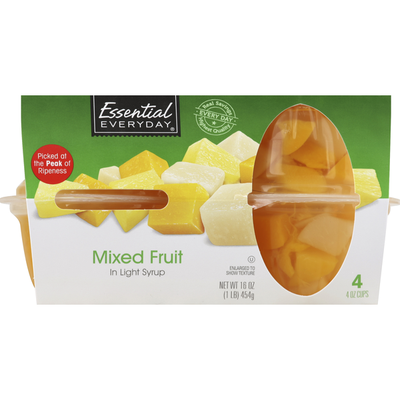 Essential Everyday Mixed Fruit, in Light Syrup