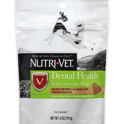 Nutri-Vet Chews for Dogs, Soft, Dental Health