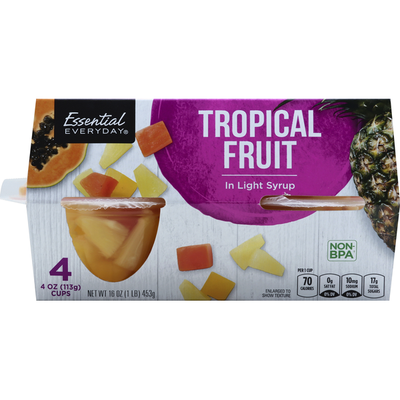 Essential Everyday Tropical Fruit, in Light Syrup