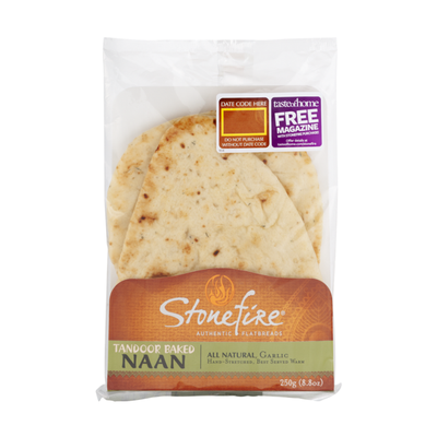Stonefire Roasted Garlic Naan Bread