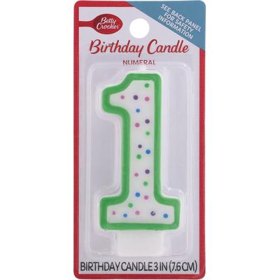 Betty Crocker Birthday Candle, Numeral 1, 3 Inch