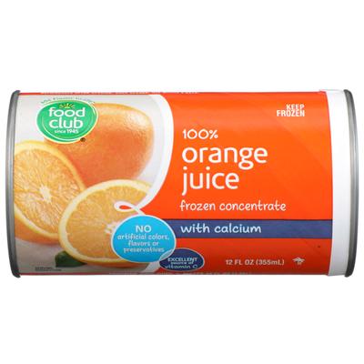 Food Club 100% Orange Juice Frozen Concentrate With Calcium