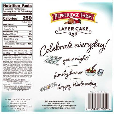 Pepperidge Farm® Frozen Coconut Layer Cake