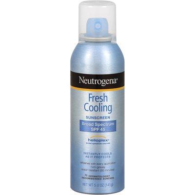 Neutrogena® Fresh Cooling Body Mist Sunscreen Broad Spectrum SPF 45