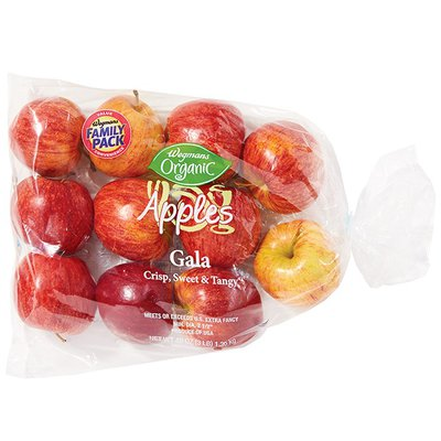 Wegmans Organic Food You Feel Good About Apples, Gala, FAMILY PACK