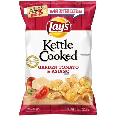 Lay's Kettle Cooked Garden Tomato & Asiago Flavored Potato Chips