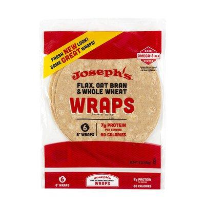 Joseph's Mediterranean Cuisine Flax, Oat Bran & Whole Wheat Wraps