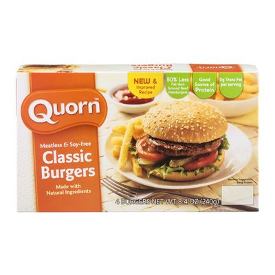 Quorn Classic Burgers Meatless & Soy-Free - 4 CT
