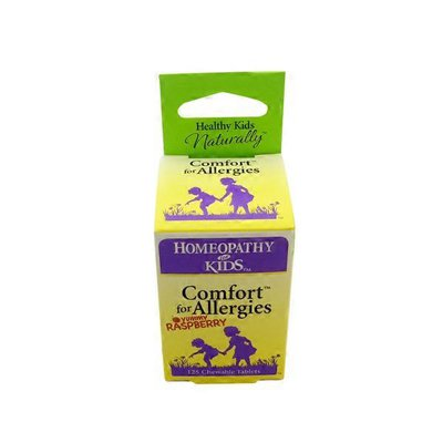 Homeopathy For Kids Comfort for Allergies, Yummy Raspberry Chewable Tablets