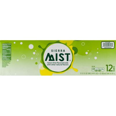 Sierra Mist Flavored Soda Lemon Lime -