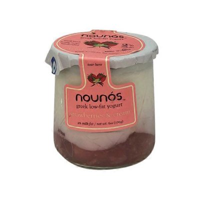 Nounos Strawberries & Cream Greek Low-fat Yogurt