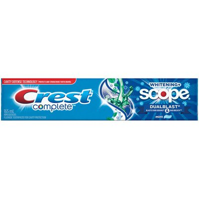 Crest Whitening Plus Scope Crest Complete Whitening + Scope DualBlast, 165 mL Dentifrice