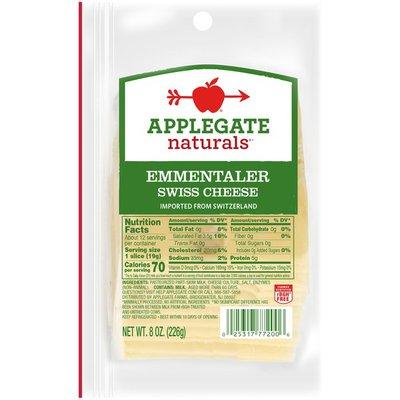 Applegate Emmentaler Swiss 2/8 Ounce