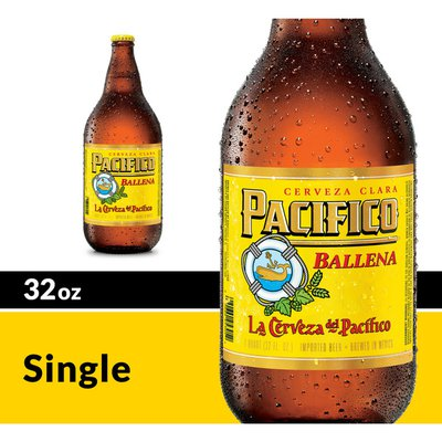 Pacifico Clara Mexican Lager Beer Bottle