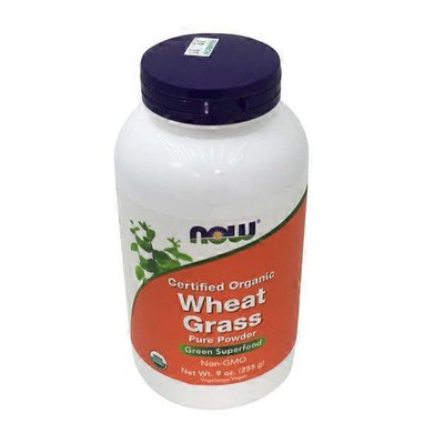 Now Certified Organic Wheat Grass Green Superfood Pure Powder