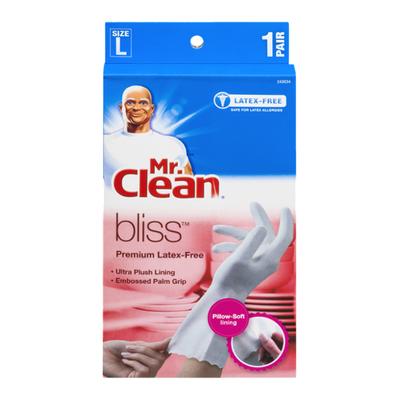 Mr. Clean Gloves, Premium Latex-Free, Large