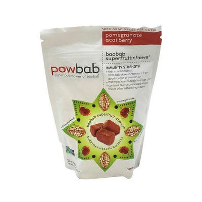 Powbab Pomegranate Acia Berry Baobab Superfruit Chews