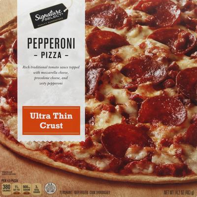 Signature Select Pizza, Pepperoni, Ultra Thin Crust