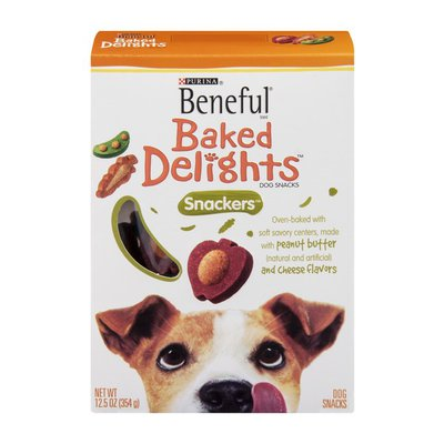 Beneful Baked Delights Snackers Dog Snacks with Peanut Butter & Cheese Flavors