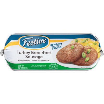 Festive Turkey Breakfast Sausage