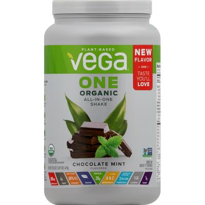 Vega All-in-One Shake, Organic, Chocolate Mint Flavored