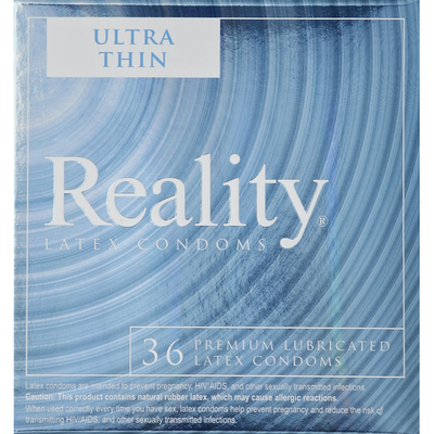 Reality Condoms, Latex, Premium Lubricated, Ultra Thin