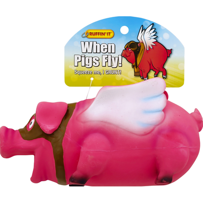 Ruffin' It When Pigs Fly! Pet Toy