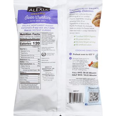 Alexia Organic Crinkle Cut Fries with Sea Salt