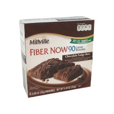 Millville Fiber Now 90 Calorie Chocolate Brownie Bars