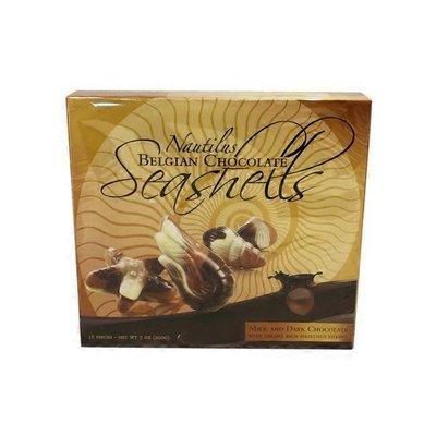 Nautilus Seashells Milk And Dark Chocolate With Creamy Rich Hazelnut Filling