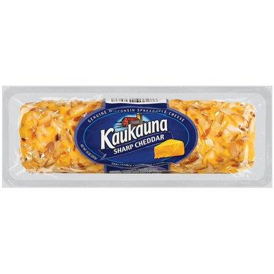 Kaukauna Sharp Cheddar Spreadable Cheese Log