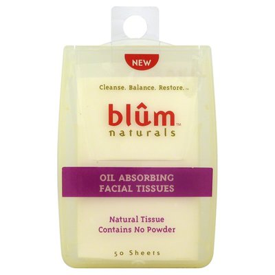 Blum Facial Tissues, Oil Absorbing