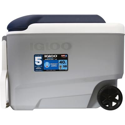 Igloo Cooler, Wheelie Cool, 40 Quarts