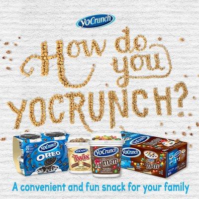 YoCrunch Strawberry Lowfat Yogurt with M&M's
