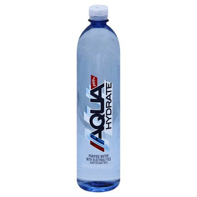 AQUAhydrate Purified Water, with Electrolytes, pH9+