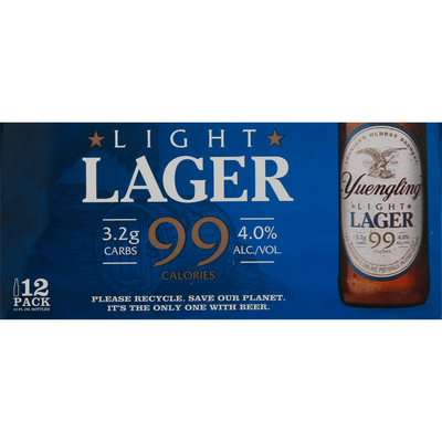 Yuengling Beer, Light Lager, 12 Pack