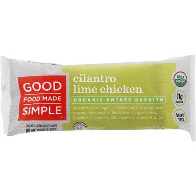 Good Food Made Simple Burrito, Cilantro Lime Chicken, Entree, Organic