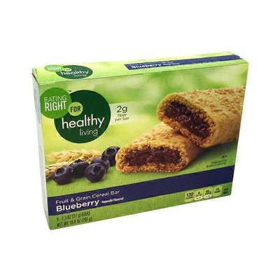 Eating Right For Healthy Living Blueberry Fruit & Grain Cereal Bars