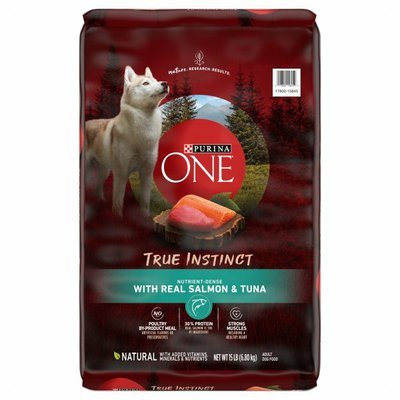 Purina ONE High Protein, Natural Dry Dog Food, True Instinct With Real Salmon & Tuna