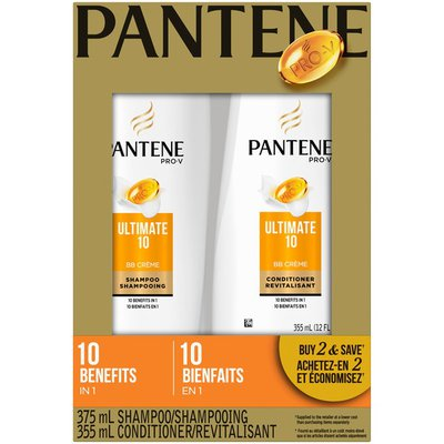 Pantene Pro-V Ultimate 10 Shampoo and Conditioner Hair Care