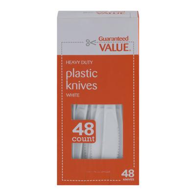 Guaranteed Value Plastic Knives White - 48 CT
