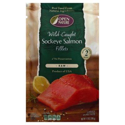 Open Nature Wild Caught Sockeye Salmon Fillets