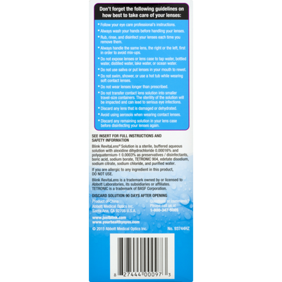 Abbott RevitaLens Ocutec Multi-Purpose Disinfecting Solution